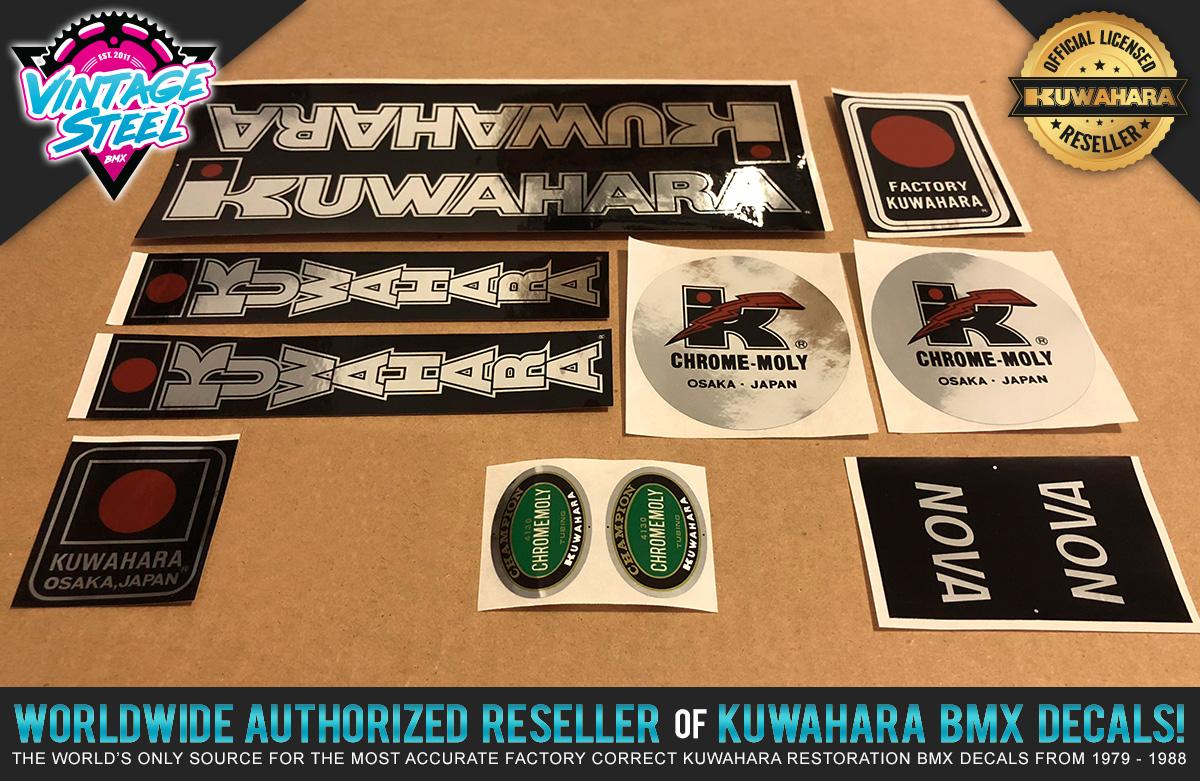 """Version #2 1982-1985 Kuwahara LASERLITE BMX Custom /""""RED CHROME/"""" Decal Stickers"""
