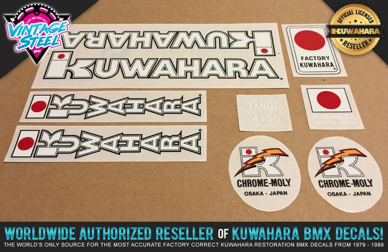 1982-1983 Kuwahara Chrome-Moly Lightning Bolt BMX Handlebar//Seat Post Decal