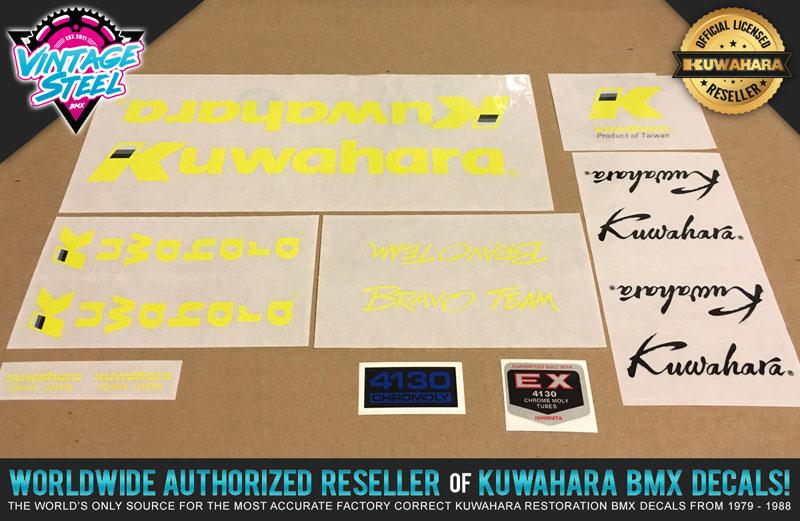 Kuwahara BRAVO TEAM BMX Decal Stickers 1987 NEW Factory Correct Freestyle