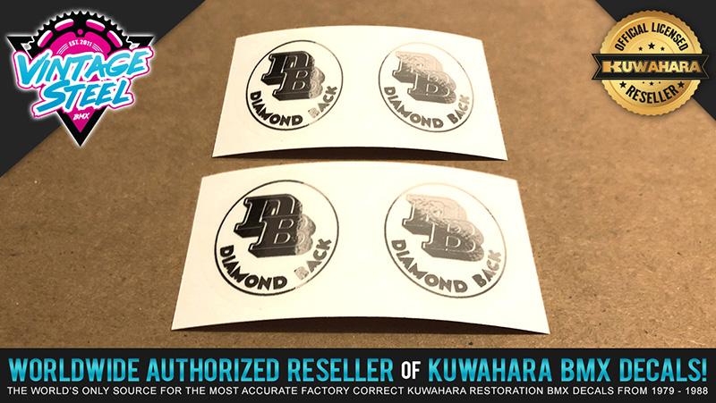 """Chrome KOIZUMI Japan /& Diamond Back /""""DB/"""" Fork Steerer Tube BMX Decal Combo"""