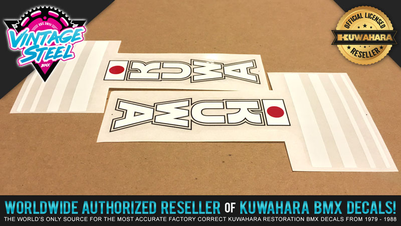 Chain Guard Kuwahara ET BMX Decal Sticker Set #2 Rear Tube For Seat Post Tube