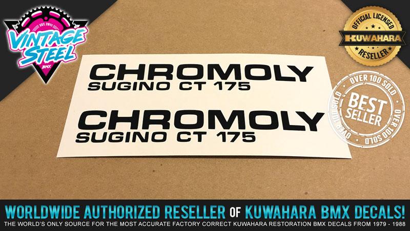 Kuwahara 1 Set Sugino CROSS BMX Chain Ring Decal Stickers - White Rub On
