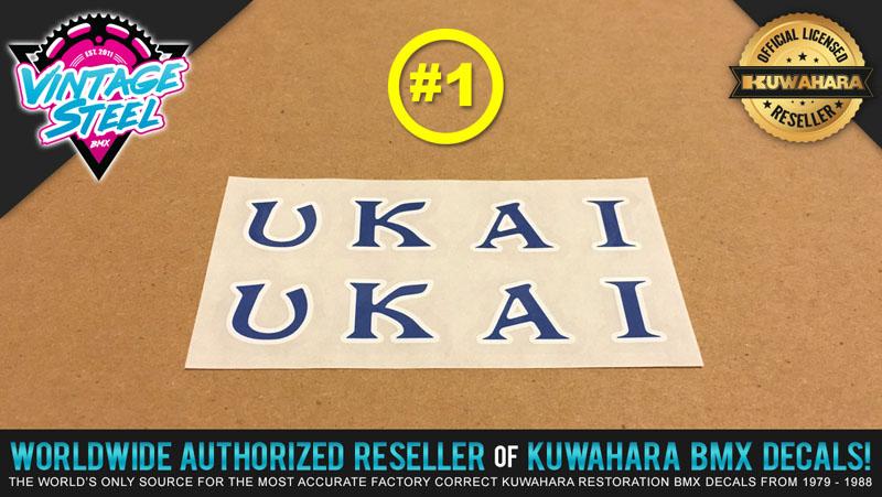 Speedline UKAI Rim // Wheel BMX Decal Stickers - Araya 7x 1 Pair Kuwahara