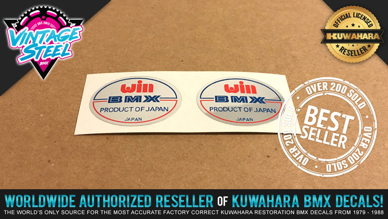 Win Habdle Bar Stem Decal Oldschool Bmx Japan Kuwahara P.K Ripper