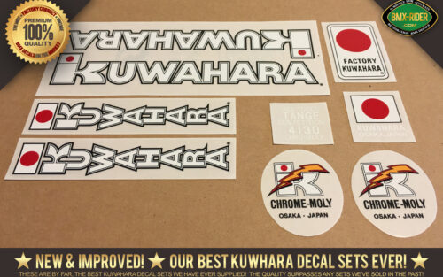 "Factory Correct 1983-1984 Kuwahara 24"" Cruiser BMX Decal Stickers"