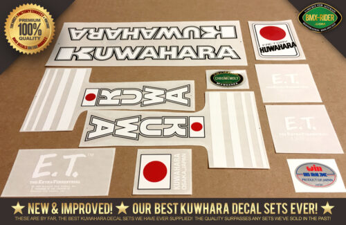 Factory Correct 1982-1983 Kuwahara ET BMX Decal Stickers