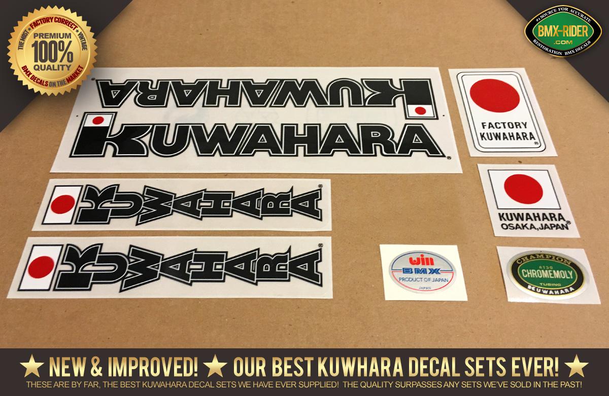 NOS KUWAHARA BMX OLD SCHOOL STICKERS DECALS 20 24 KZ ET NOVA LASER LITE ! 2