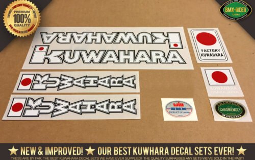 Factory Correct 1982 Kuwahara KYZ BMX Decal Stickers