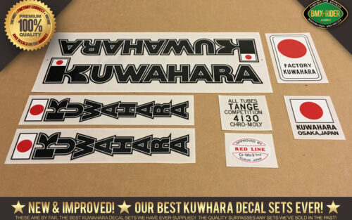 Factory Correct 1980-1982 Kuwahara KZ BMX Decal Stickers