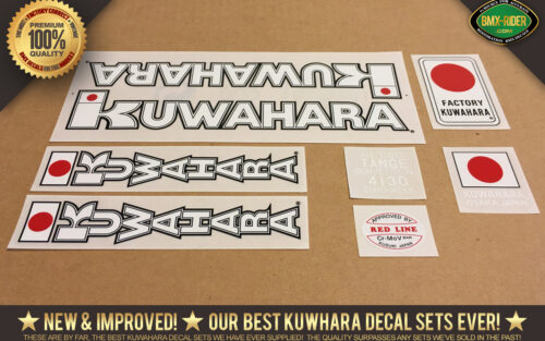 Factory Correct 1983 Kuwahara KZ BMX Decal Stickers