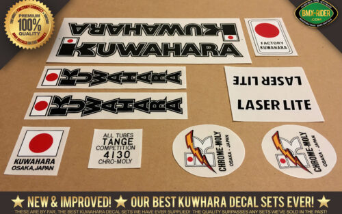 Factory Correct 1982 Kuwahara Laserlite BMX Decal Stickers