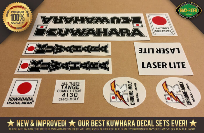 Factory Correct 1983-1985 Kuwahara Laserlite BMX Decal Stickers