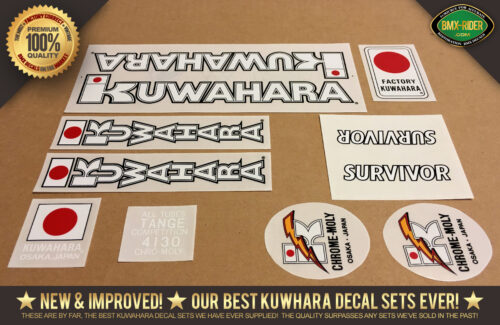 Factory Correct 1983-1985 Kuwahara SURVIVOR BMX Decal Stickers