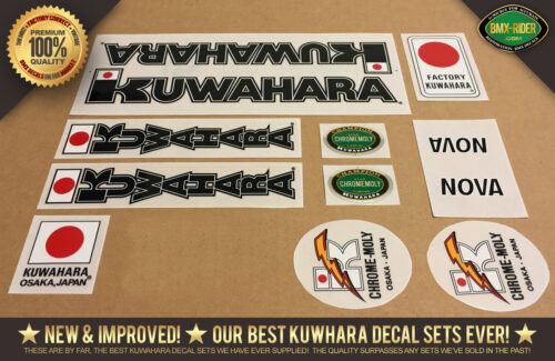 Factory Correct Kuwahara Nova Decal Set 1983-1985