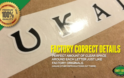 UKAI Rim Wheel Factory Correct BMX Decal