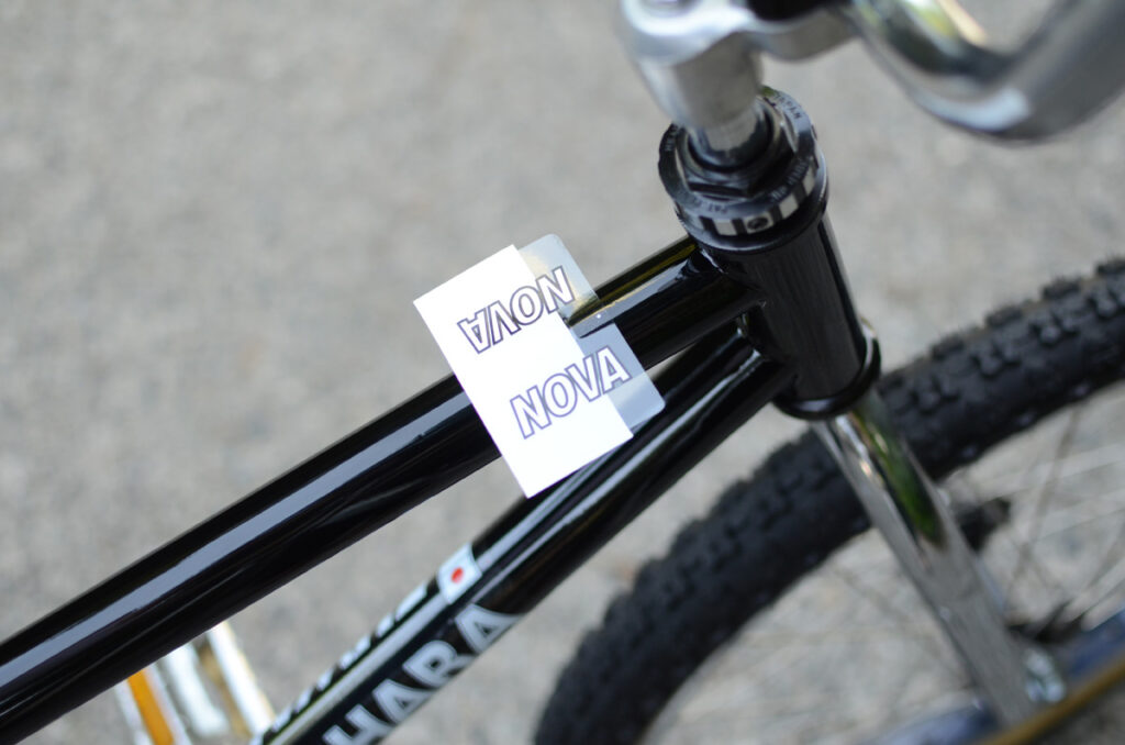 How To Apply a Kuwahara Decal Sticker to your BMX Frame