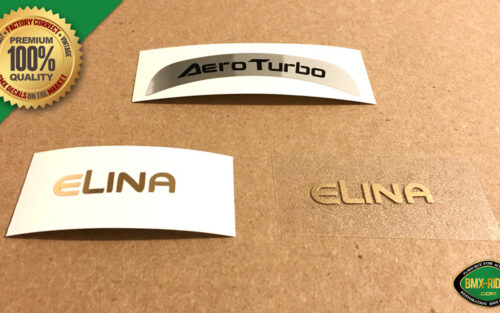 Elina AERO TURBO Seat Decal Stickers - Turbo-81 - Kuwahara Laserlite Nova