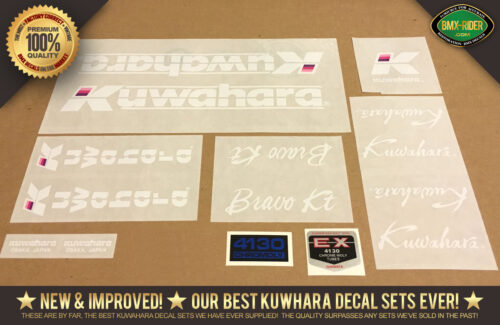 Factory Correct Kuwahara Bravo KT BMX Decal Stickers