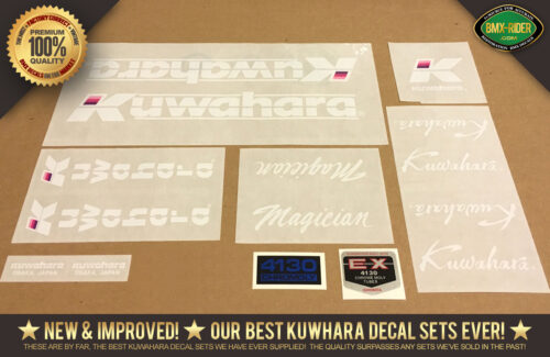 Factory Correct Kuwahara Magician BMX Decal Stickers
