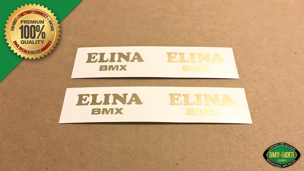Saddles Tahei ELINA BMX Seat Decal Sticker - for Lightning Bolt /& E.T 1 Pair