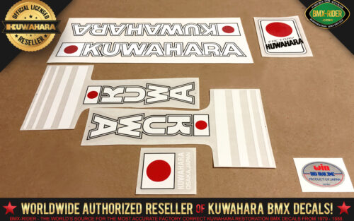 Factory Correct 1981 Kuwahara KZ BMX Decal Stickers