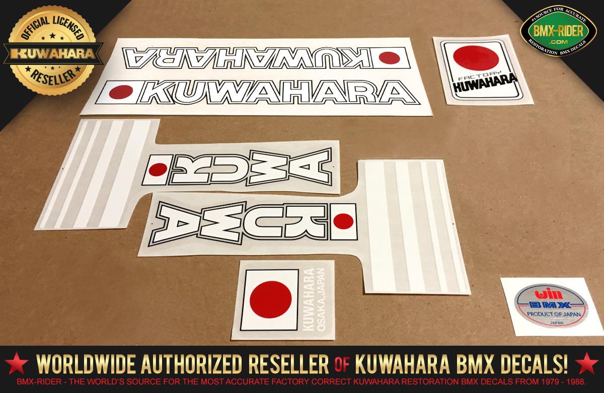 Factory Correct 1981 Kuwahara KZ BMX Decal Stickers