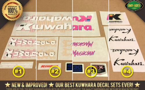 Kuwahara Seat Post Decal Sticker old school BMX Restoration decals